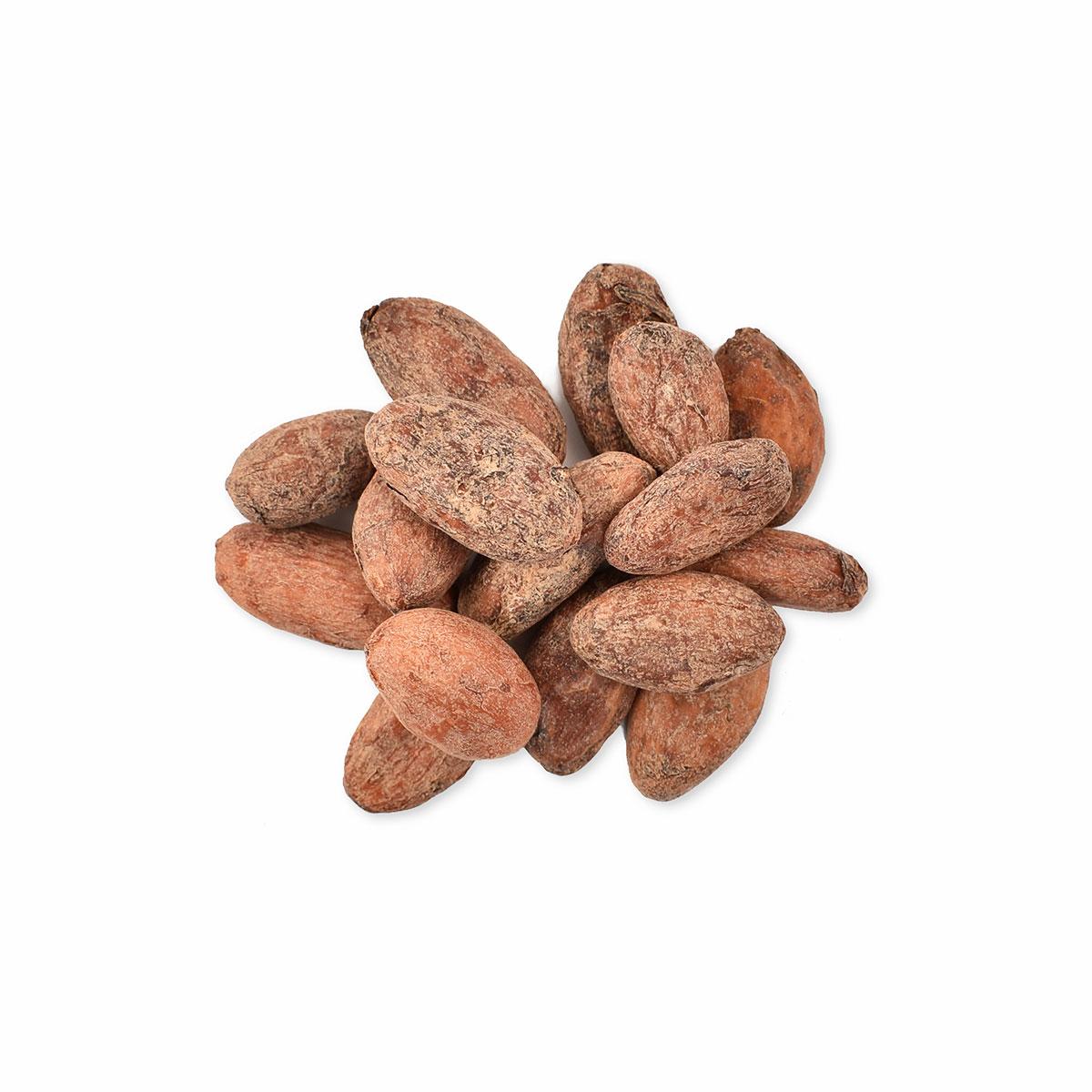 Hele rå kakaobønner