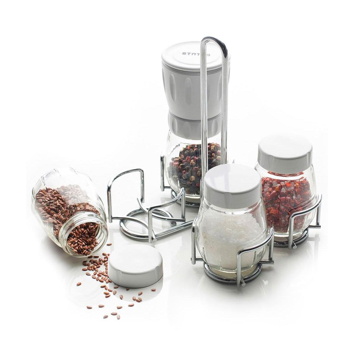Status krydderkvernsett i fem deler